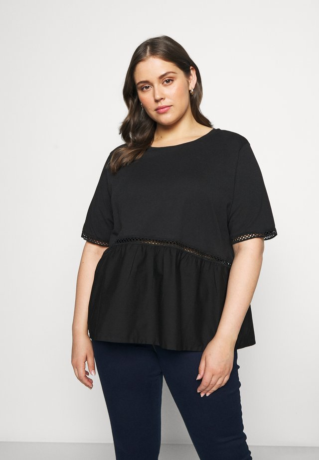 NMTERIA LOOSE - T-shirt basique - black