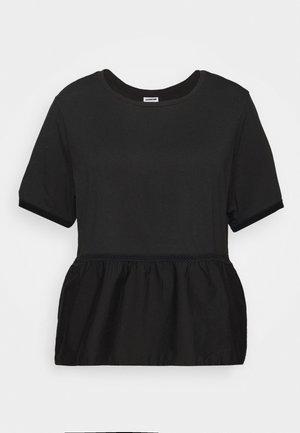 NMTERIA LOOSE - T-shirts basic - black