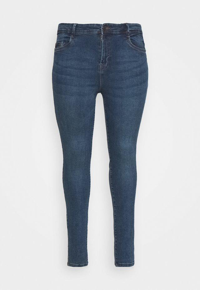 NMAGNES SLIT - Jeans Skinny Fit - medium blue denim