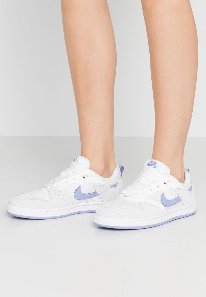 Nike SB - ALLEYOOP - Trainers - summit white/light thistle