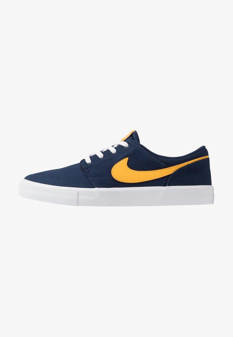 Nike SB - PORTMORE II SOLAR - Sneakers laag - midnight navy/universe gold/white/black