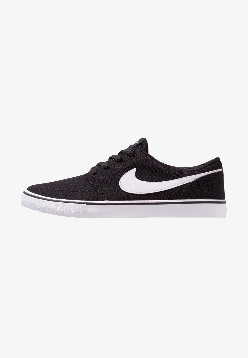 Nike SB - PORTMORE II  - Sneakers laag - black/white