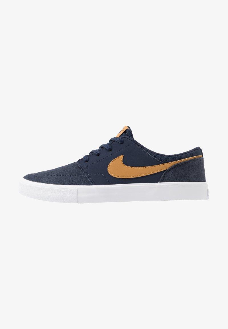 Nike SB - PORTMORE II SOLAR - Zapatillas skate - obsidian/wheat/white