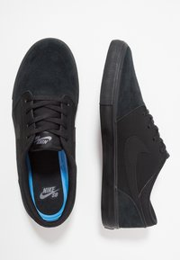 Nike SB - PORTMORE II SOLAR - Skateschoenen - black/gunsmoke - 1