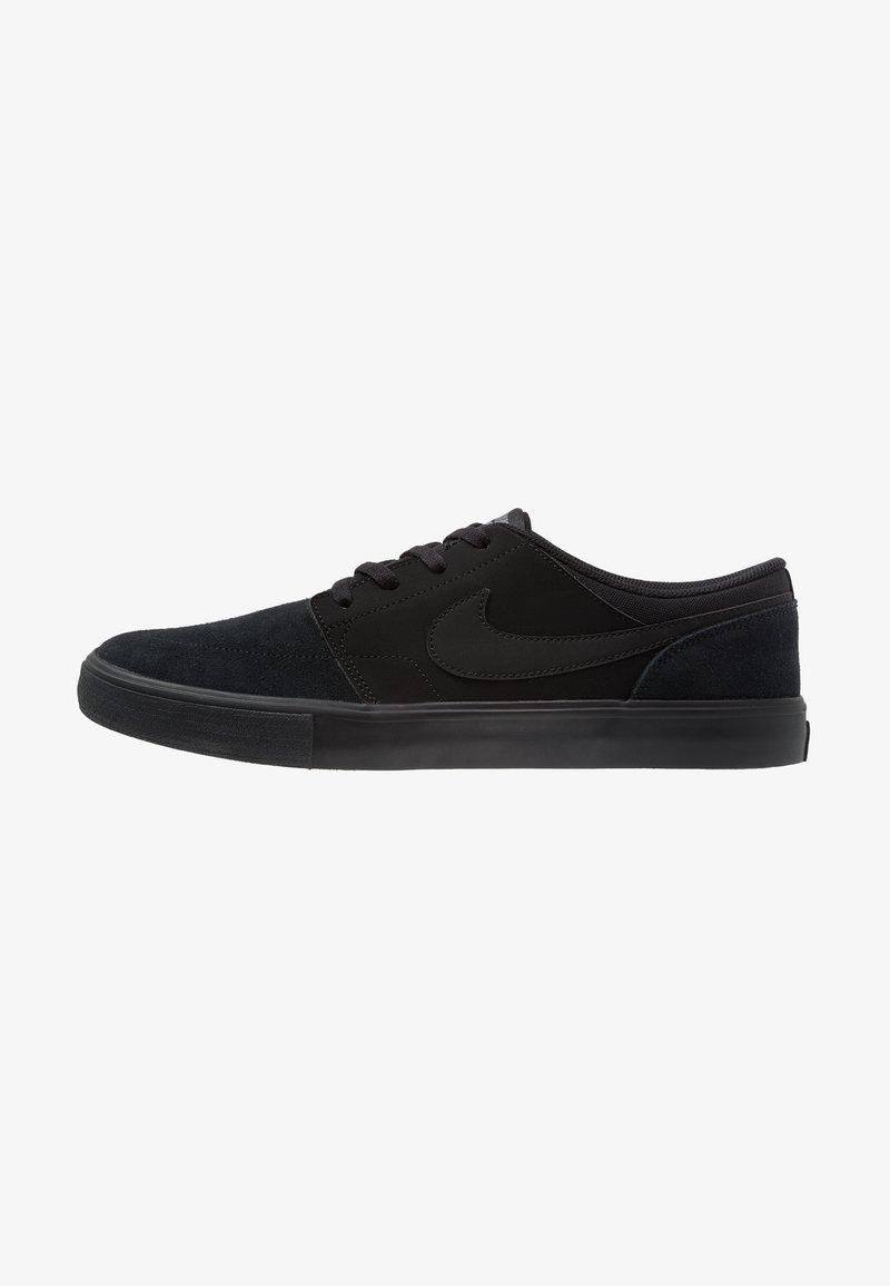 Nike SB - PORTMORE II SOLAR - Scarpe skate - black/gunsmoke
