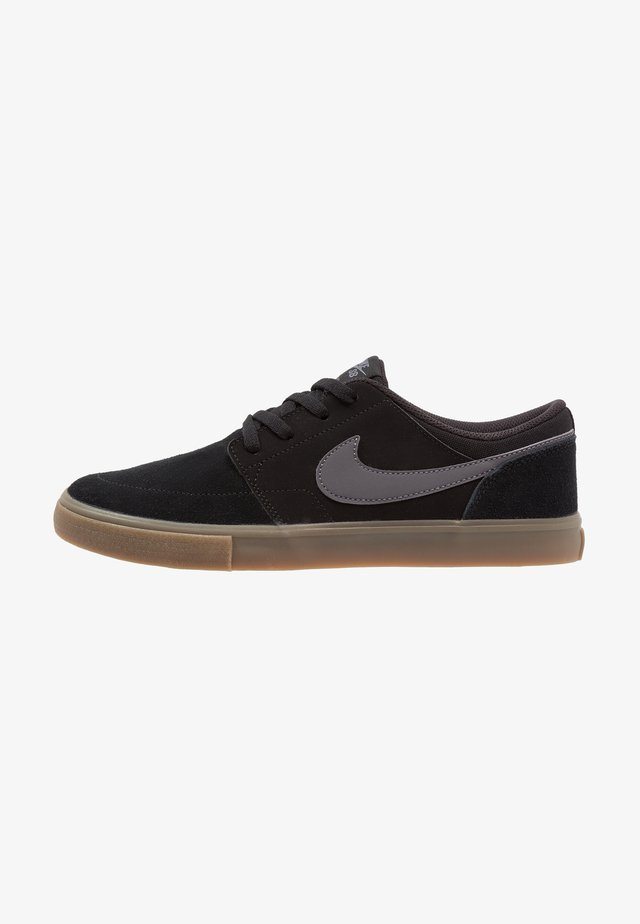 PORTMORE II SOLAR - Skate shoes - black/light brown/dark grey