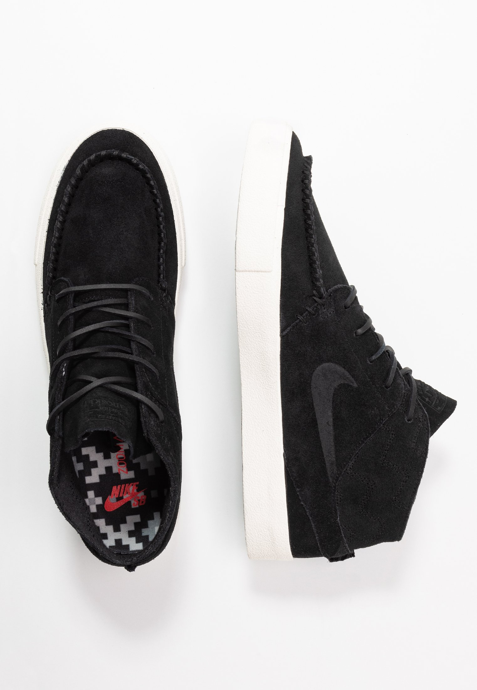 ZOOM JANOSKI MID CRAFTED Sneakers hoog blackpale ivory