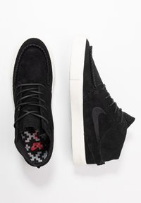 Nike SB - ZOOM JANOSKI MID CRAFTED - Zapatillas altas - black/pale ivory - 1