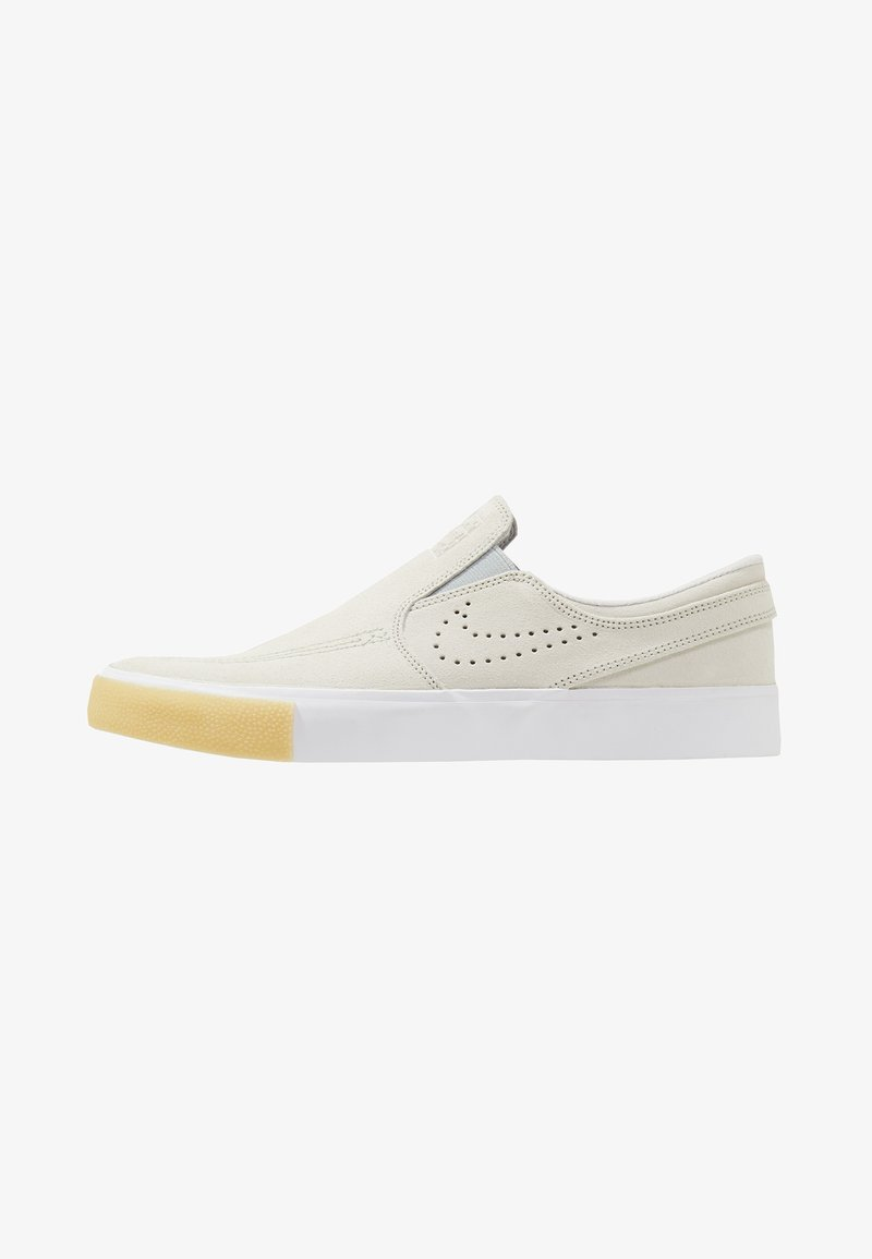 Nike SB - ZOOM JANOSKI SLIP - Sneaker low - white/vast grey/gum yellow