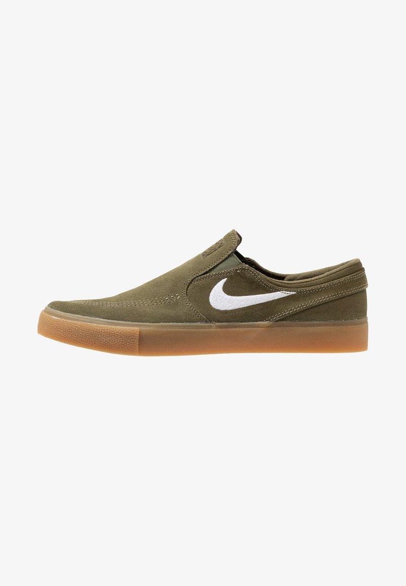 Nike SB - ZOOM JANOSKI - Instappers - medium olive/white/light brown/photo blue/hyper pink