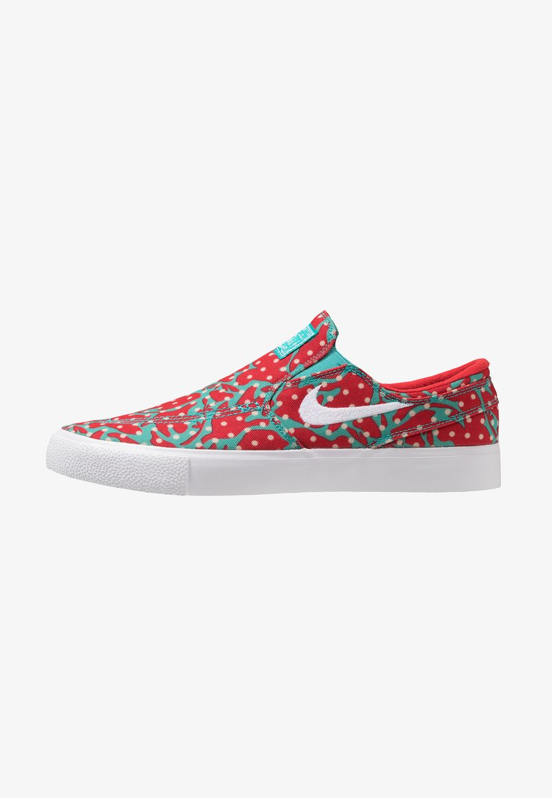 Nike SB - ZOOM JANOSKI - Slipper - cabana/white/desert ore/university red/light brown