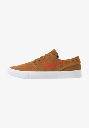 ZOOM JANOSKI - Skateboardové boty - light british tan/mystic red/white/gum light brown