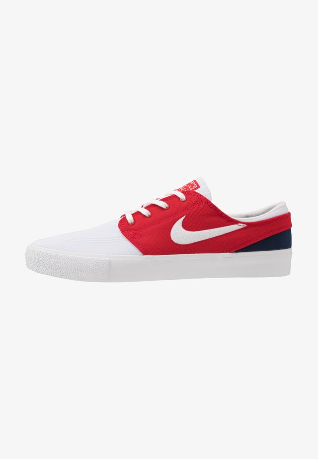 ZOOM JANOSKI - Matalavartiset tennarit - white/ red/ blue