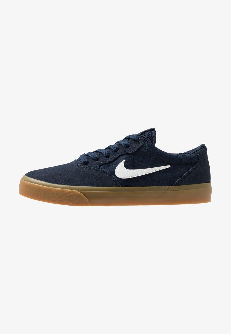Nike SB - CHRON SLR - Sneakersy niskie - obsidian/white/light brown