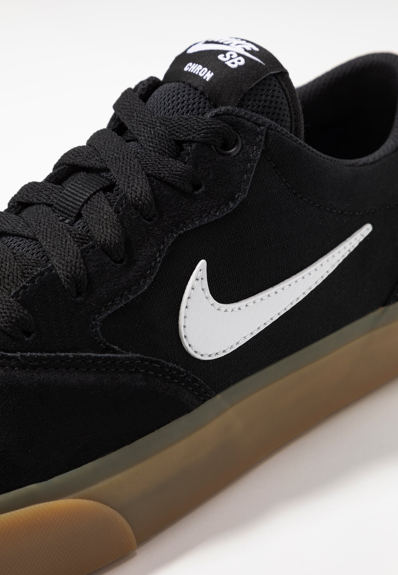 Nike SB CHRON SLR - Sneakersy niskie - black/white/light brown