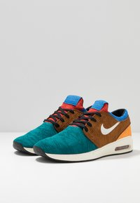 Nike SB - AIR MAX JANOSKI 2 - Tenisky - geode teal/pale ivory/light british tan/kumquat/mystic red/pacific blue - 2