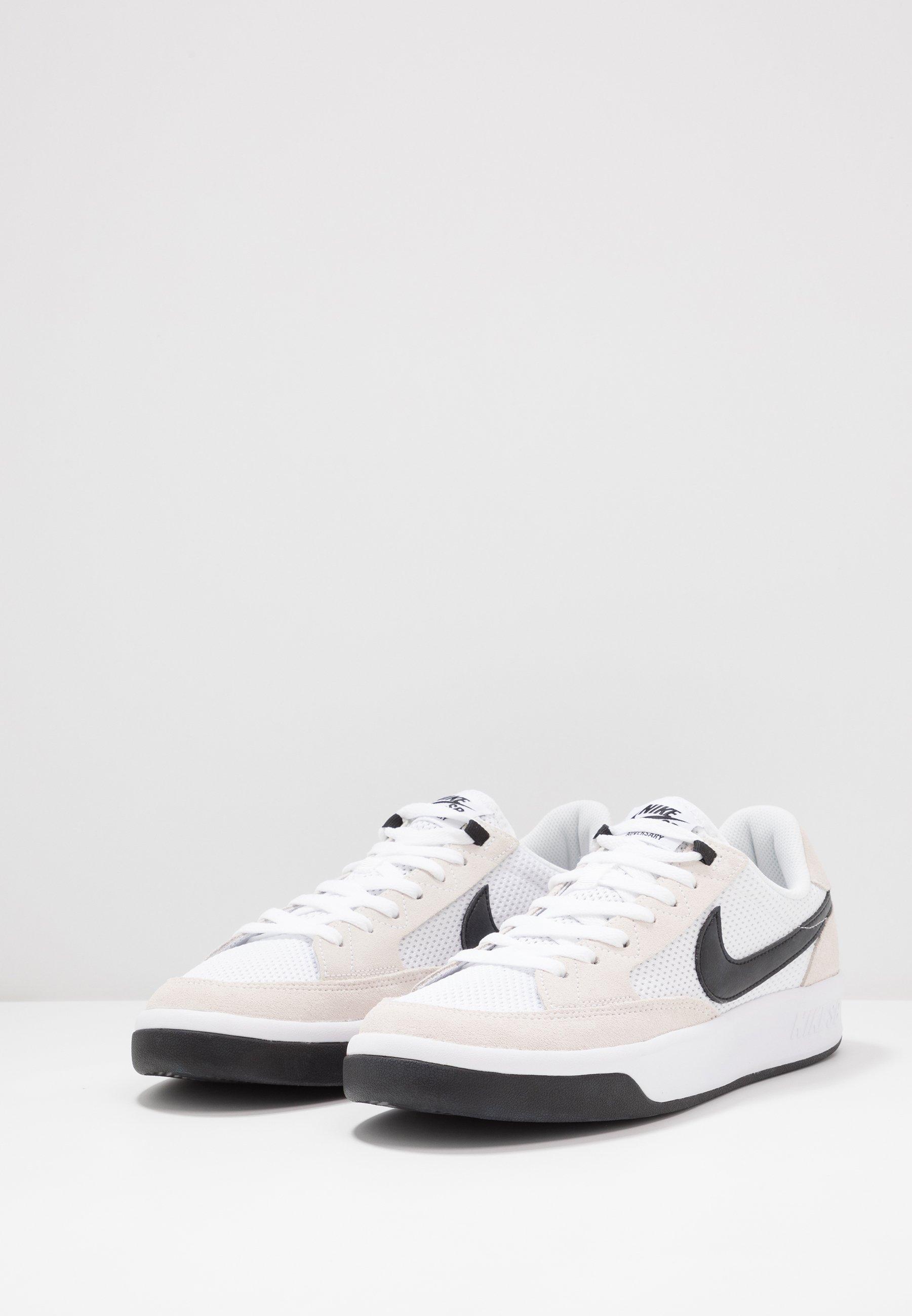 Nike Sb Adversary - Chaussures De Skate White/black PTCRDH4