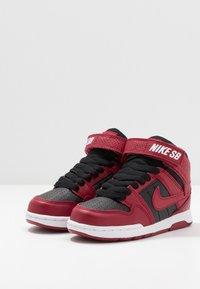 Nike SB - MOGAN MID 2 - High-top trainers - red crush/black/white - 3