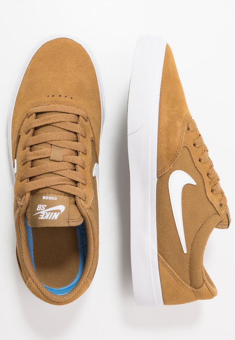 Nike SB - CHRON  - Sneakers laag - golden beige/white