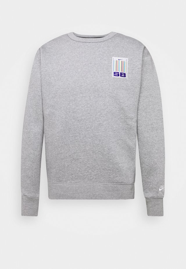 STRIPES CREW - Sweater - grey heather/white