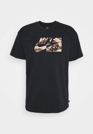 TEE CAMO - Print T-shirt - black
