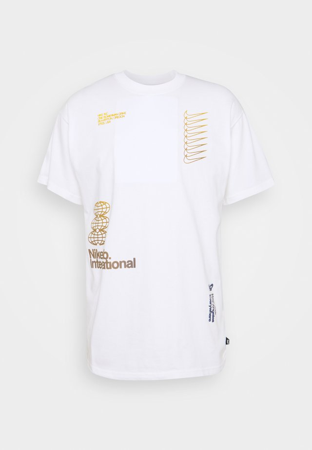 TEE INTERNATIONAL - T-shirt z nadrukiem - white