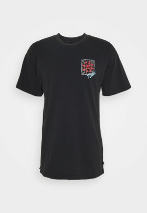TEE VIBES UNISEX - Print T-shirt - black