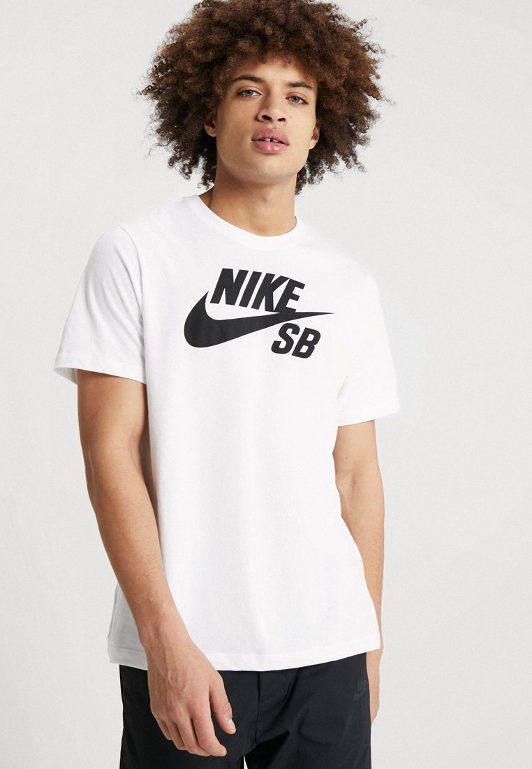 Nike SB - DRY TEE LOGO - T-shirt print - white