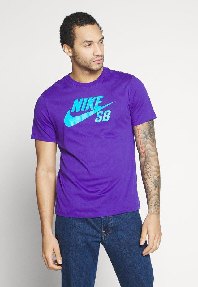 DRY TEE LOGO - T-shirt med print - court purple