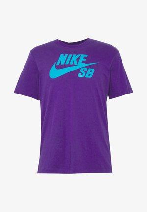 DRY TEE LOGO - T-shirt imprimé - court purple