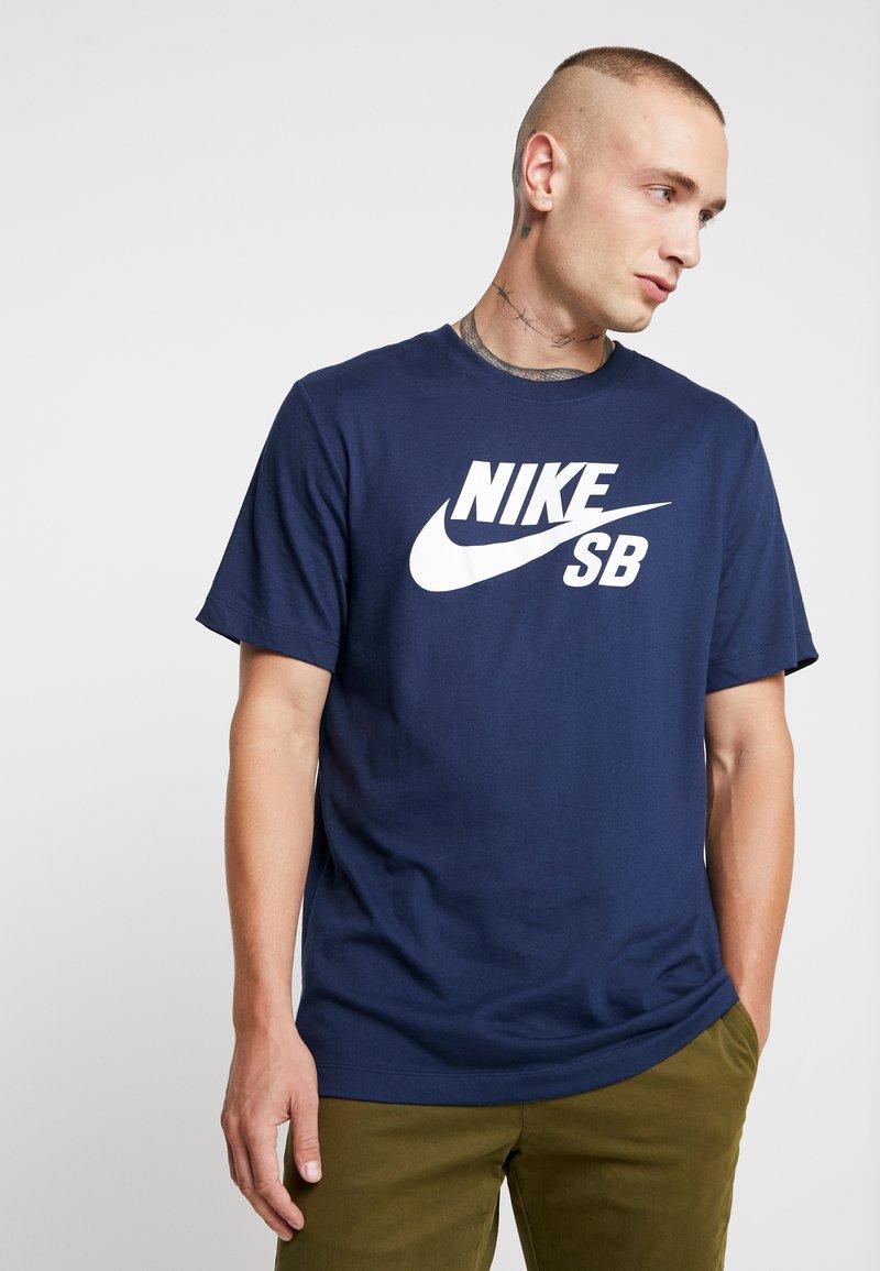 Nike SB - DRY TEE LOGO - Print T-shirt - obsidian