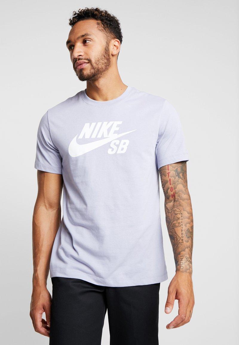 Nike SB - DRY TEE LOGO - Print T-shirt - indigo haze