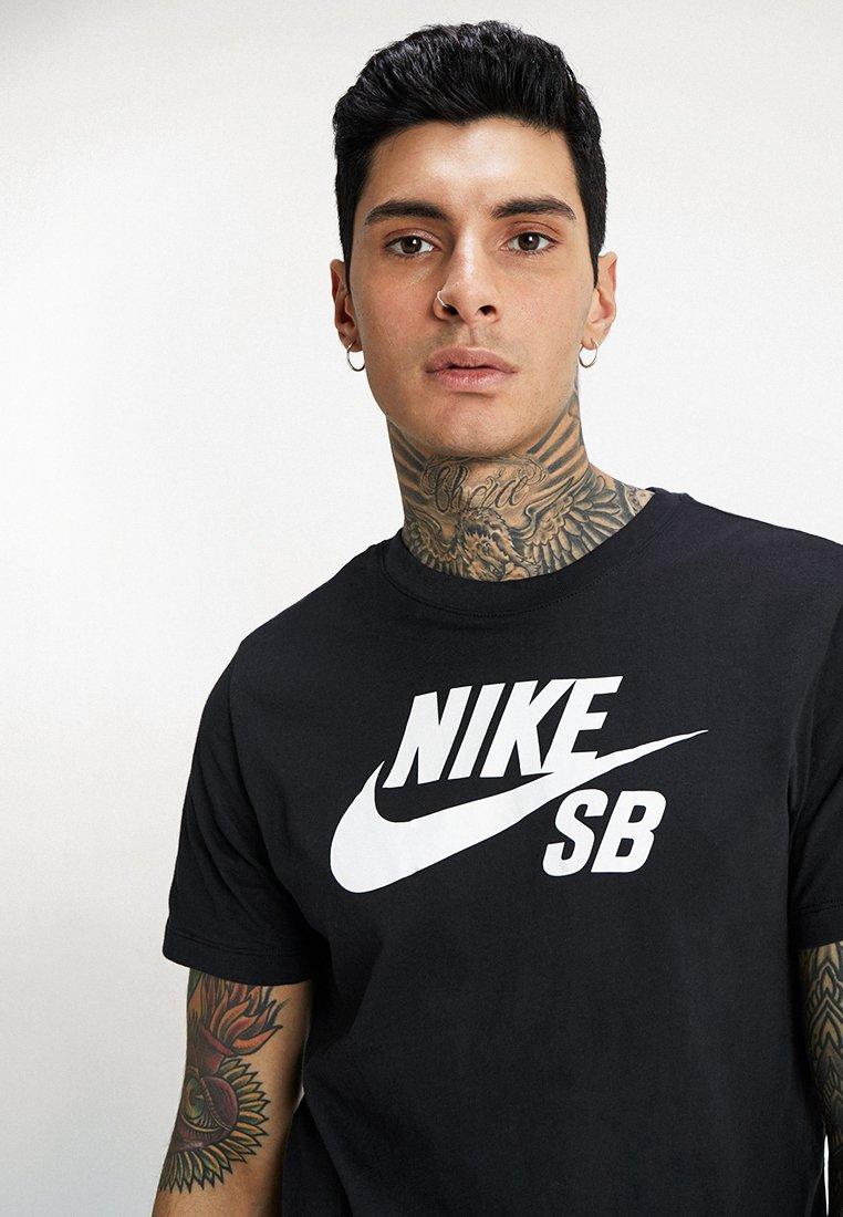 DRY TEE LOGO T shirt imprimé blackwhite
