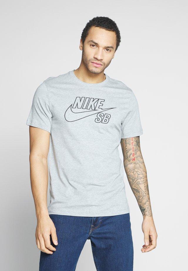 TEE LOGO - T-shirt print - dark grey heather/black