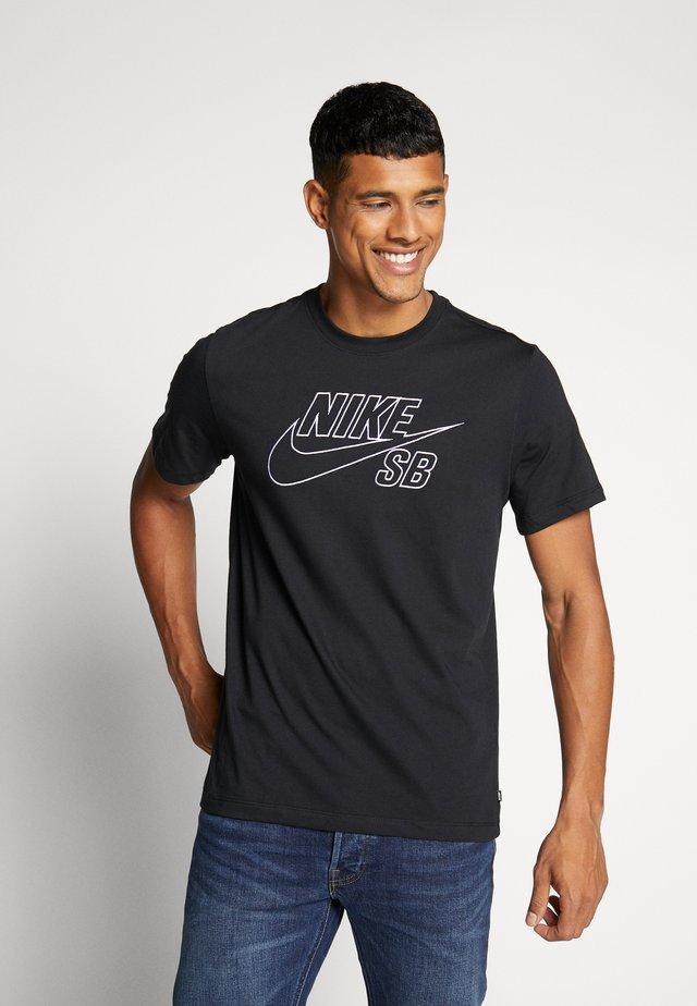 TEE LOGO - T-shirt print - black/white