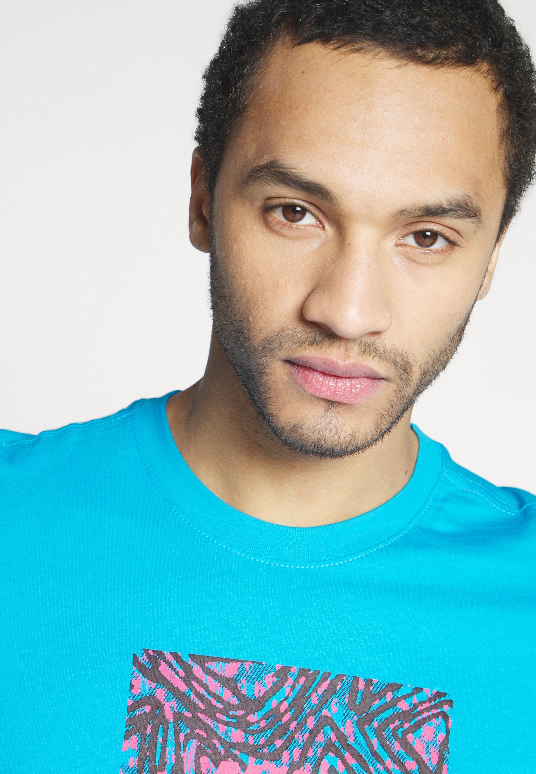 Nike SB TEE TRIANGLE - T-shirt imprimé - laser blue