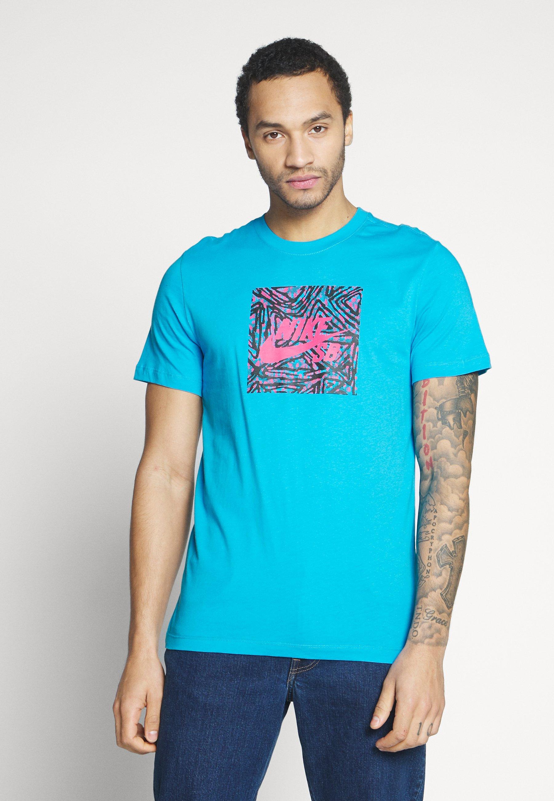 Nike SB TEE TRIANGLE - T-shirt z nadrukiem - laser blue
