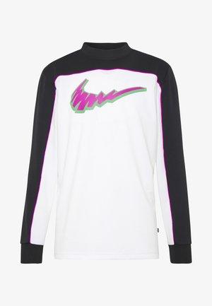 DRY - Långärmad tröja - black/white/vivid purple