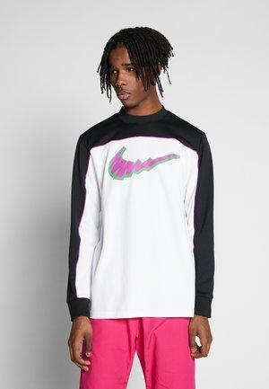 DRY - Langærmede T-shirts - black/white/vivid purple