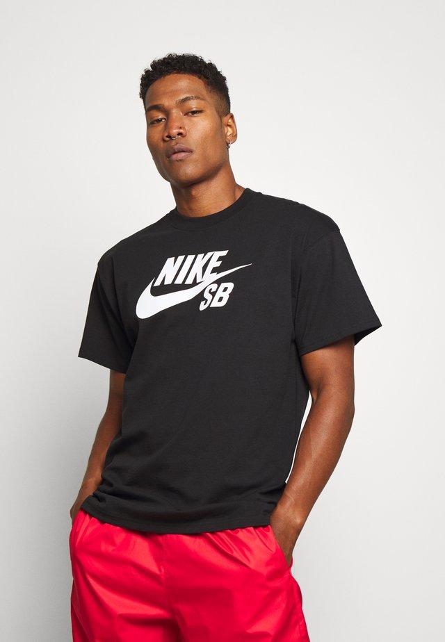 TEE LOGO UNISEX - T-shirts med print - black
