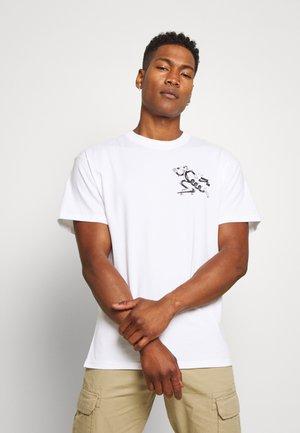 SKATEBOARD - Camiseta estampada - white/black