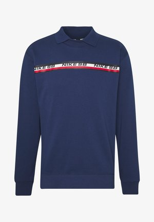 M NK SB ON DECK NOVELTY CREW - Long sleeved top - midnight navy