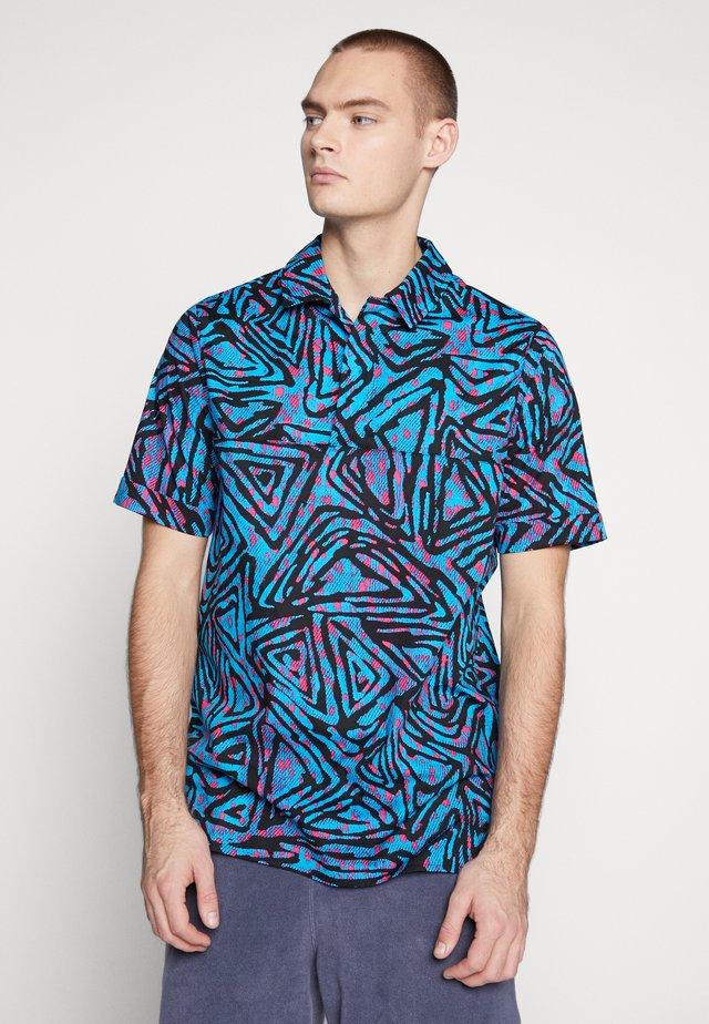 Overhemd - laser blue/watermelon/black