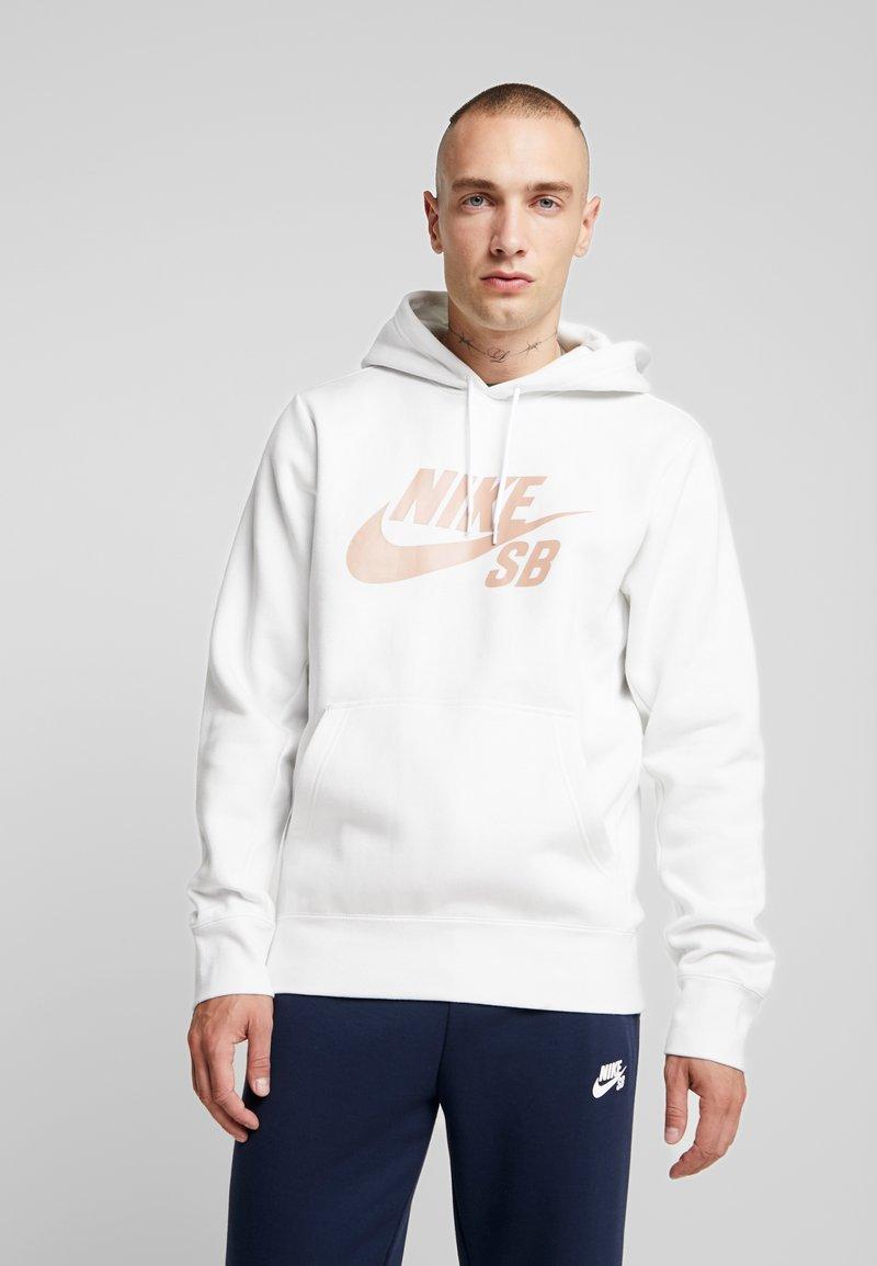 Nike SB - ICON HOODIE - Hoodie - summit white/rose gold
