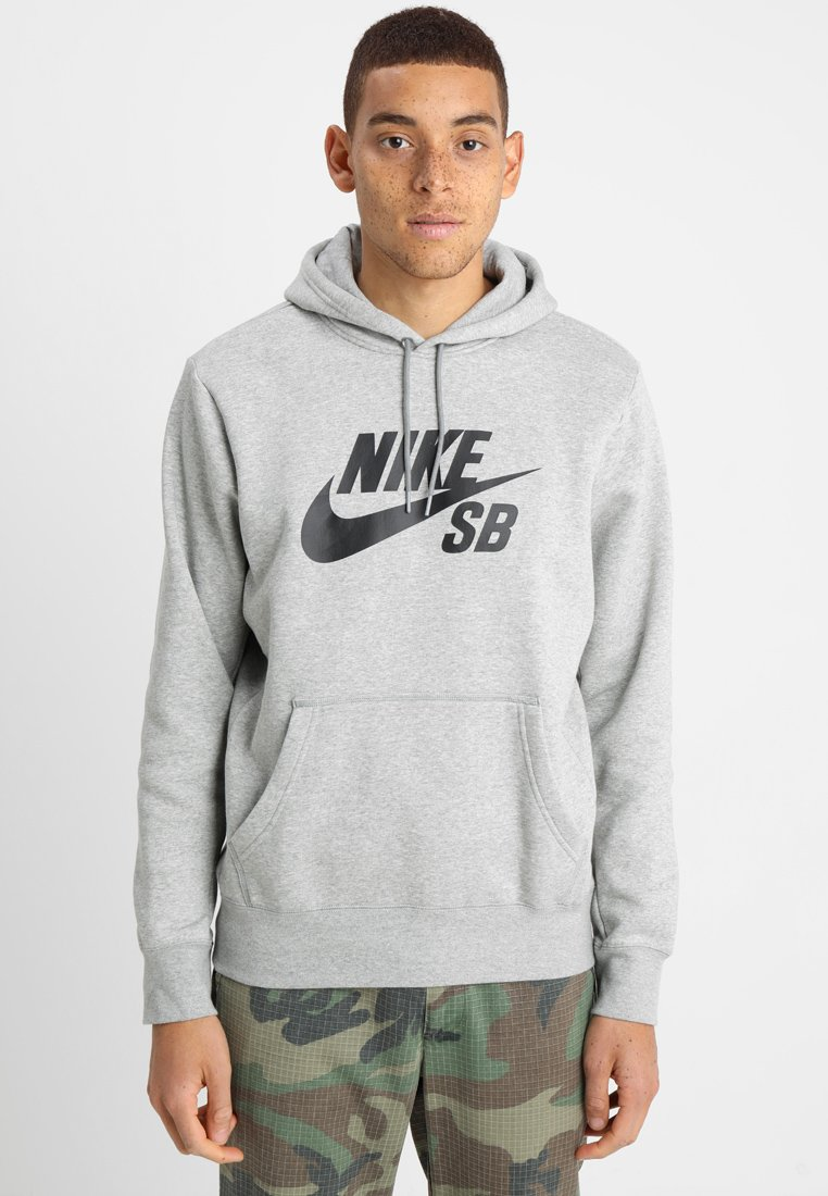 Nike SB - ICON HOODIE - Luvtröja - grey heather