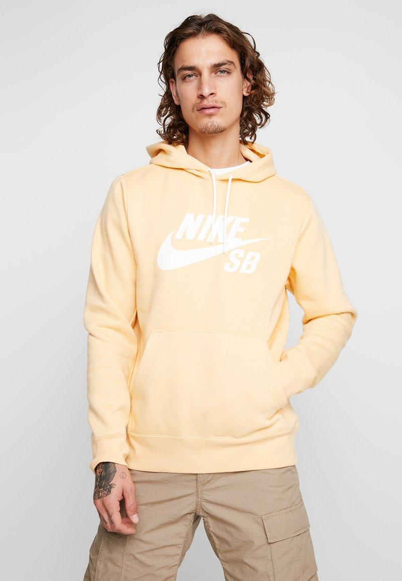 Nike SB - ICON HOODIE - Hoodie - celestial gold/summit white