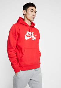 Nike SB - ICON HOODIE - Hoodie - university red/white - 0