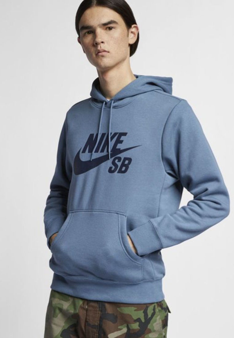 Nike SB - ICON HOODIE - Hoodie - dark blue