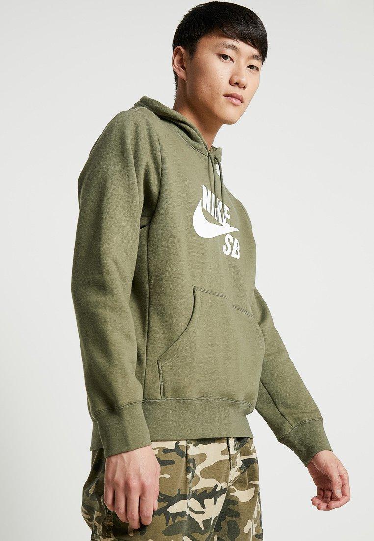 Nike SB - ICON HOODIE - Hættetrøjer - medium olive