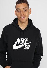 Nike SB - ICON HOODIE - Kapuzenpullover - black/white - 4